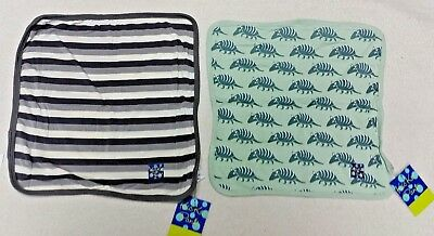 2 Kickee Pants Lovey  Burp Cloths  with Tags      A