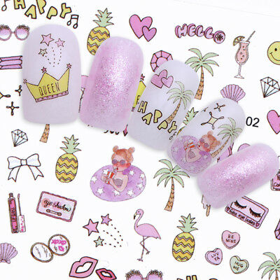 Nail Art Water Decals Transfer Stickers  Tropical Fruit Decoration Tips