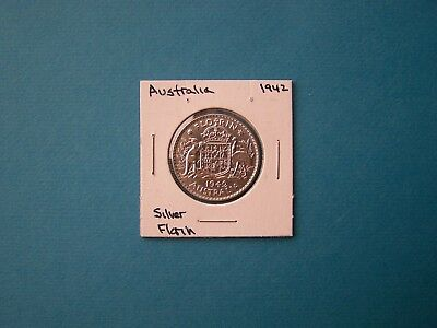 Australia Coins 1942 Year 1 Shilling Nice Silver Coin.