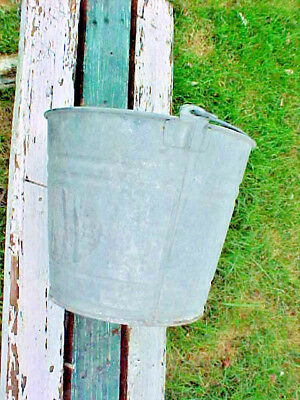 Vintage Garden Farm Galvanized Bucket 10 Quart     #3