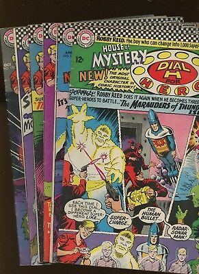 House of Mystery 157,158,161,162,168,170 *6 Books* 1966-7 DC! Dial H for Hero!