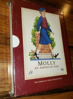 New AMERICAN GIRL Molly McIntireFull Book Hard Cover  Set in plastic wrapped