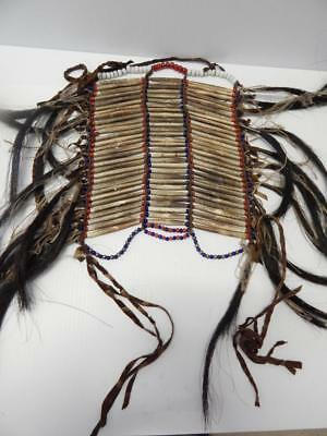Antique / Vintage Lakota Sioux Child's Breastplate - Padre Beads - Nice Patina