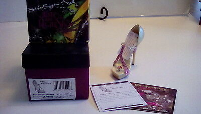 Just the Right  Shoe Pink Ribbon Miracle mini shoe collectible