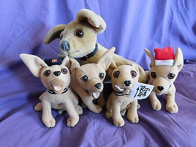 (Lot of 5) Vintage Taco Bell Talking Chihuahua Plush Toy Stuffed Animal