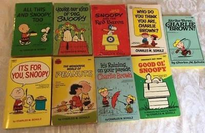 Lot of 9 Vintage Charlie Brown Peanuts Snoopy Charles M. Schulz Comic Books VGC!