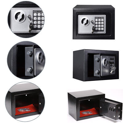 Black digital Electronic Password safe Fireproof steel Locker Home Storage Box