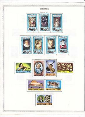 Small Mint Grenada Collection On Two Minkus Album Pages/Glassines (1978) - SEE!!