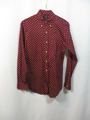 Vintage Shirt Towncraft Pennys Button Down Collar Polkadots Long Slv Cotton 50s