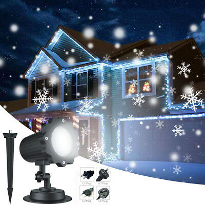 LED Snowfall Projector Christmas Moving Laser Projection Outdoor Indoor Light