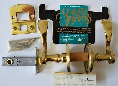 Vintage Old World Brass Hand polished Italian Solid Brass Door Lever Handles NEW