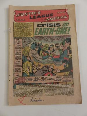 Justice League of America #21 Coverless 1st JSA in Silver Age Crisis Earth One