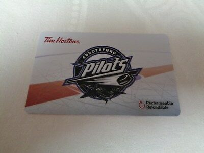 Tim Horton's - PJHL - ABBOTSFORD PILOTS - Gift Card 2018 - New, Unused - FD62686