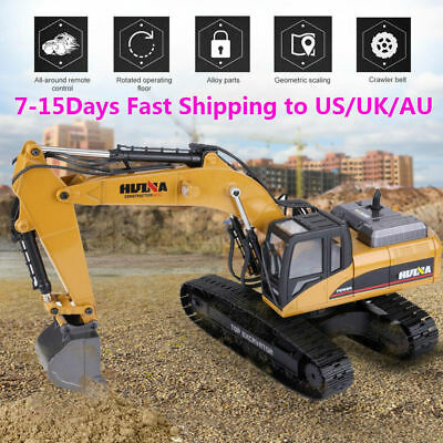 HUINA1580 RC Excavator 2.4G 1:14 3 in 1 Electric Engineering Truck Xmas Gift