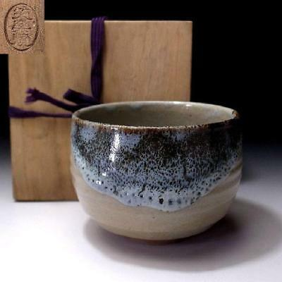 TR5: Japanese pottery Tea Bowl, Shoraku ware with Wooden box, Artistic glazes