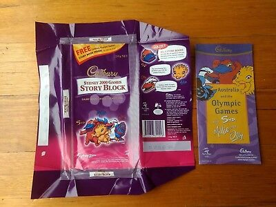 Sydney 2006 Olympic Games Cadbury Chocolate Wrapper And Story Book First Book