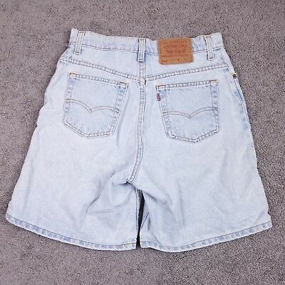 cdfdcd1edfcfd Vtg Levi s Women s 551 Relaxed Fit High Waist Blue Jean Mom Shorts Size 10  USA