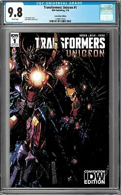 SDCC 2018 TRANSFORMERS UNICRON #1 Variant Cover Alex Milne Ltd 500 CGC 9.8 !!!