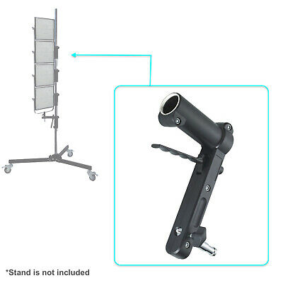 Light Stand Arm Adapter Adjustable Height Lamp Mount for Tube Photo Video Studio
