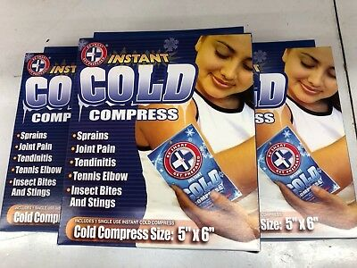 BE SMART First Aid Instant Cold Compress Ice Packs ( pack of 3)
