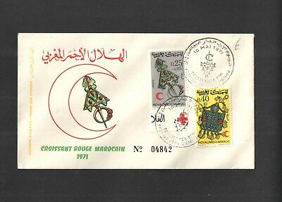 Morocco 10 May 1971 - First Day Cover No. 04842 with SG303 & SG304. See Pics