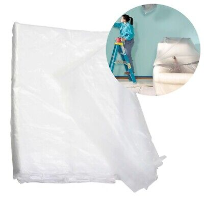 Large Protective Plastic Decorating Sheet 3x4M Waterproof Furniture/Floor Cover