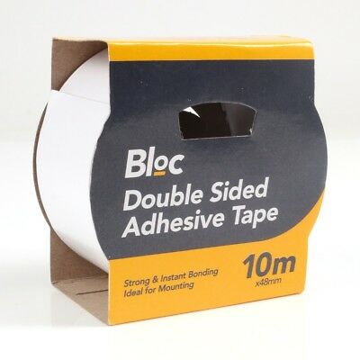 50M Double Sided MOUNTING TAPE Stick Fix Strong Adhesive Wall Hanging Mount DIY