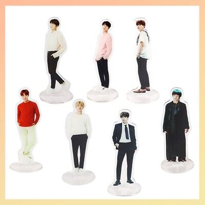 Kpop Bangtan Boys BTS Character Stand Plates Display Double Side Acrylic Fans