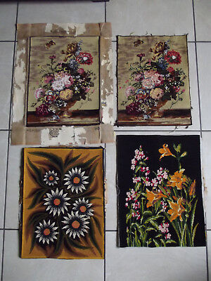 Choice Of 1 Vintage French Tapestry Floral Flowers Sunflowers Lillies Upcycle