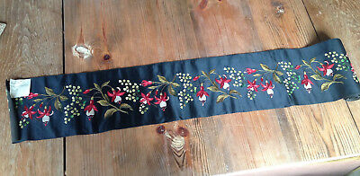 Antique Textiles Silk Embroidered Panel
