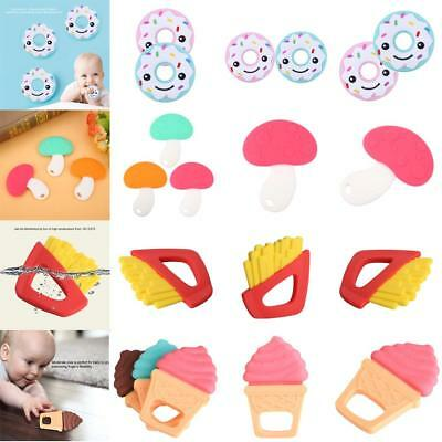 Soft Silicone Baby Teether Cute Donut- Shape Modelling Infant Teething Chew Toys