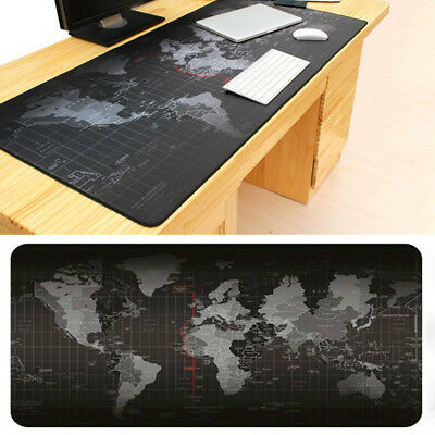 Desk Super Large Mouse Pad World Map Pattern Anti-slip Mat For Computer Laptop