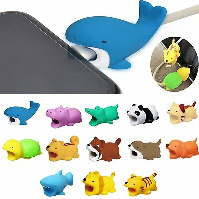 New Cartoon Animal Bite Cute Phone Charger Cable Protector Soft Cord Accessories