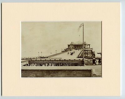 A Mounted Print Of Hastings Pier East Sussex c1875 Old Photo Printed to Frame