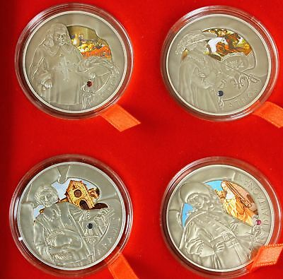 BELARUS 20 Roubles 2009 - Silver - The Three Musketeers - 4 Coins. - 2