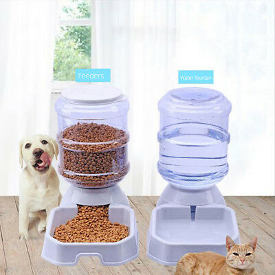 3.8L Large Automatic Pet Food Drink Dispenser Dog Cat Feeder Water Bowl Eyeful