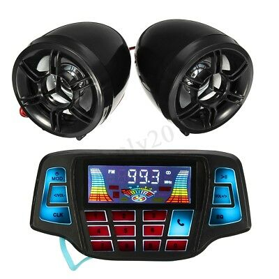 Motorcycle Motorbike Bluetooth Handlebar Audio Radio MP3 Speaker System USB FM