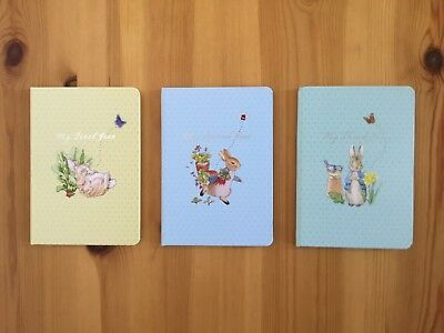 NEW Peter Rabbit Baby & Toddler Record Book (3 Books For 3 Years)