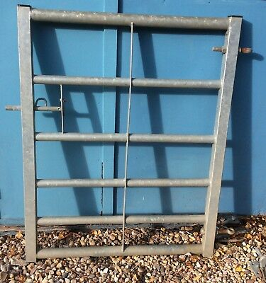6 Bar Galvanised Metal Field Farm Equestrian Entrance Security Gate 3ft