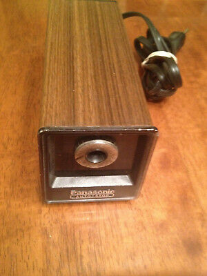 VTG Panasonic Electric Pencil Sharpener Auto-Stop KP-77A Faux Wood TESTED WORKS
