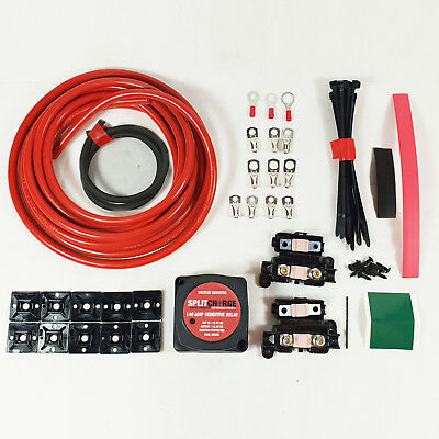 5 mtr Split Charge Kit 12V 140Amp Voltage Sense Relay 110amp cable T4 T5