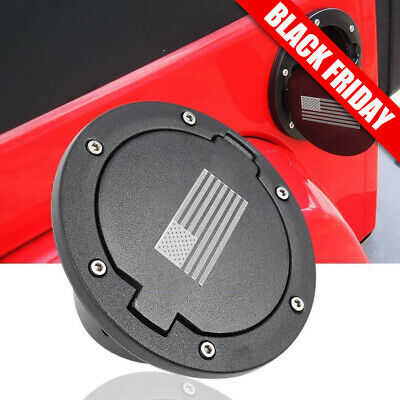 Fuel Gas Tank Cap Cover For 2007-2017 Jeep Wrangler JK & Unlimited 2/4Dr US Flag
