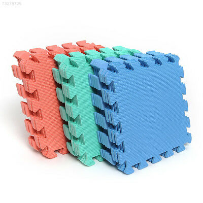 3092 Set of 9pcs Interlocking Puzzle Floor Foam Gym Mats Thick Squares Tile Kids