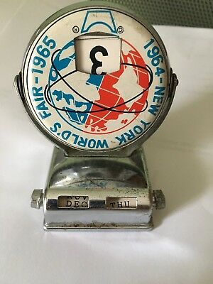 Vintage 1964/65  New York Worlds Fair Flip desk perpetual Calendar UPSIDE DOWN