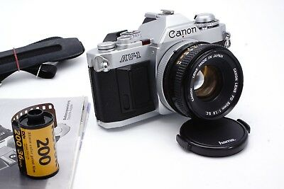 CANON AV-1 35MM SLR Film Camera with 2 Lenses, Teleconverter