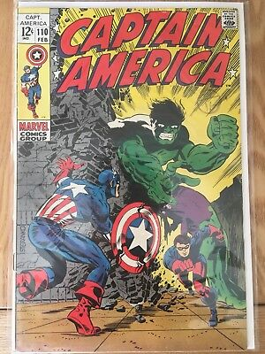 Captain America #110 - 1st Madame Hydra Marvel 1969 FN/VF