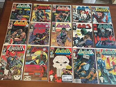 Lot of Copper Age PUNISHER Comic Books by MARVEL #31-46 You get 15 books!