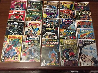 HUGE LOT of DEATHLOK comic books MARVEL COMICS copper age High Grade!