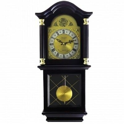 "Bedford*26""MAHOGANY CHERRY OAK FINISH*Grandfather WALL CLOCK*with PENDULUM&CHIME"