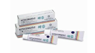 New Seal !! Ketoconazole Cream 2% 10 gr EXP 2021 - FREE SHIPPING